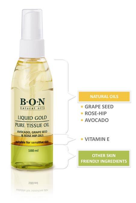 B.O.N Natural Tissue Oil Ingredients